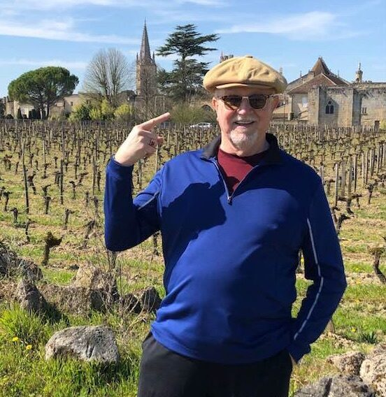 Doyle Hinman in the vineyard